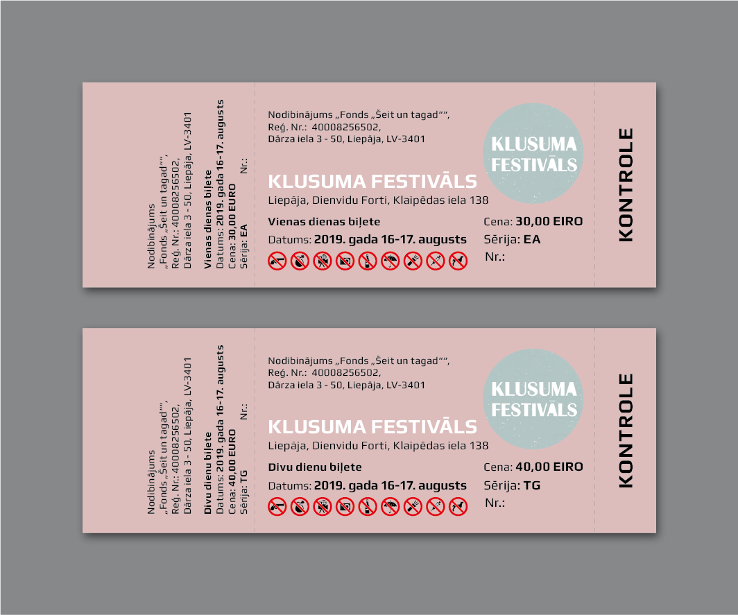 Manufacturing and printing of tickets