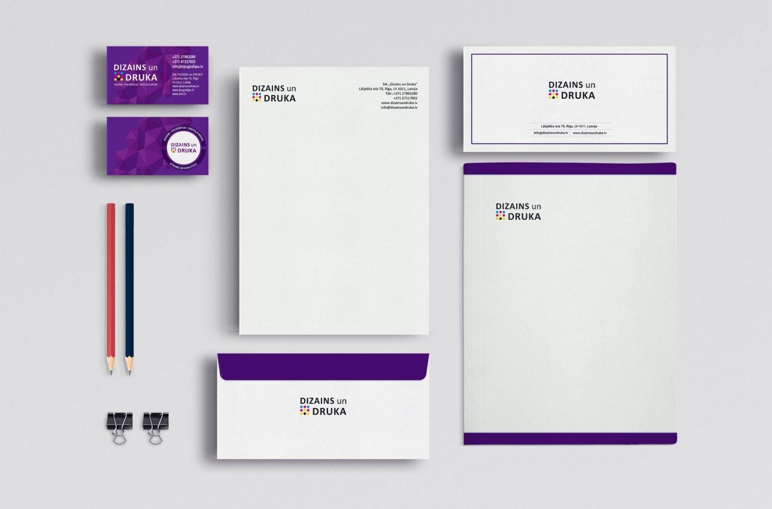 Lietišķā poligrāfija - vizītkartes, blankas, mapes, aploksnes u.c.