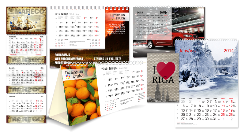 Calendars printing and production